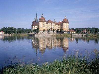 Moritzburg Castle, Near Dresden, Sachsen, Germany-Hans Peter Merten-Framed Photographic Print