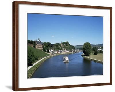 Old Town and River Saar, Saarburg, Rheinland-Pfalz (Rhineland Palatinate), Germany-Hans Peter Merten-Framed Photographic Print