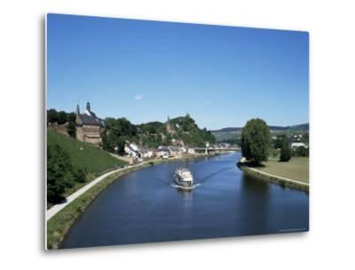 Old Town and River Saar, Saarburg, Rheinland-Pfalz (Rhineland Palatinate), Germany-Hans Peter Merten-Metal Print