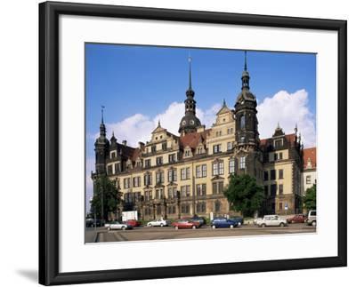 Castle, Dresden, Saxony, Germany-Hans Peter Merten-Framed Photographic Print