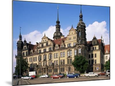 Castle, Dresden, Saxony, Germany-Hans Peter Merten-Mounted Photographic Print