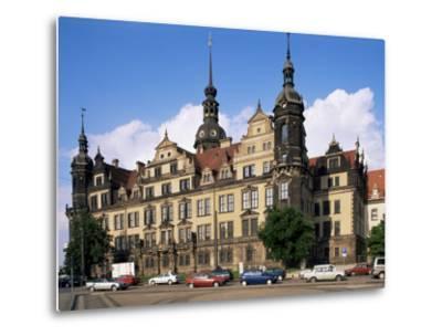 Castle, Dresden, Saxony, Germany-Hans Peter Merten-Metal Print