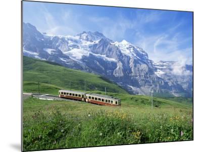 Jungfrau Railway and the Jungfrau, 13642 Ft., Bernese Oberland, Swiss Alps, Switzerland-Hans Peter Merten-Mounted Photographic Print