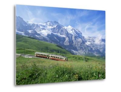 Jungfrau Railway and the Jungfrau, 13642 Ft., Bernese Oberland, Swiss Alps, Switzerland-Hans Peter Merten-Metal Print