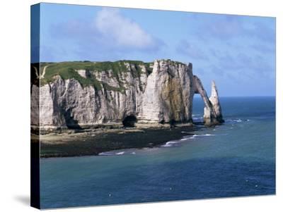 Falaises (Cliffs) and Rocks Near Etretat, Cote d'Albatre, Haute Normandie, France-Hans Peter Merten-Stretched Canvas Print