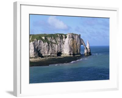 Falaises (Cliffs) and Rocks Near Etretat, Cote d'Albatre, Haute Normandie, France-Hans Peter Merten-Framed Photographic Print