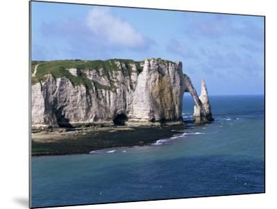 Falaises (Cliffs) and Rocks Near Etretat, Cote d'Albatre, Haute Normandie, France-Hans Peter Merten-Mounted Photographic Print