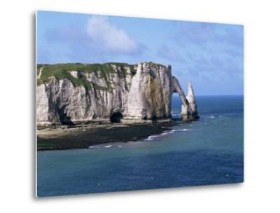 Falaises (Cliffs) and Rocks Near Etretat, Cote d'Albatre, Haute Normandie, France-Hans Peter Merten-Metal Print