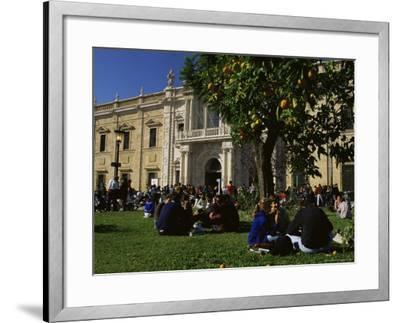 Sevilla University, Built in the 1750s as the State Tobacco Factory, Seville, Andalucia, Spain-Duncan Maxwell-Framed Photographic Print