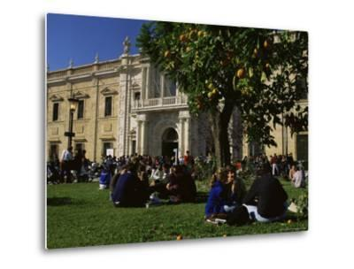 Sevilla University, Built in the 1750s as the State Tobacco Factory, Seville, Andalucia, Spain-Duncan Maxwell-Metal Print