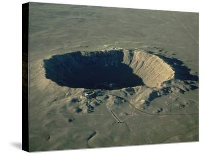 Meteor Crater, the Largest Known in the World, Arizona, USA-Ursula Gahwiler-Stretched Canvas Print