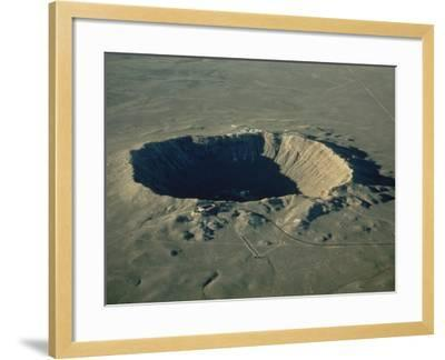 Meteor Crater, the Largest Known in the World, Arizona, USA-Ursula Gahwiler-Framed Photographic Print