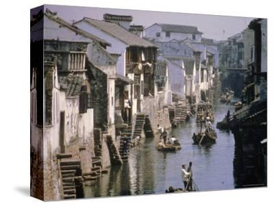 Ancient Canal in the City, Part of the Great Canal, the Longest in China, Soochow (Suzhou), China-Ursula Gahwiler-Stretched Canvas Print