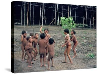 Yanomami Children, Brazil, South America-Robin Hanbury-tenison-Stretched Canvas Print