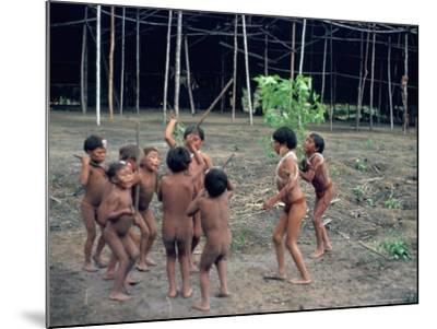Yanomami Children, Brazil, South America-Robin Hanbury-tenison-Mounted Photographic Print