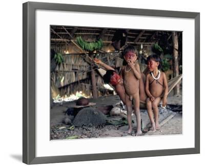 Yanomami Children, Brazil, South America-Robin Hanbury-tenison-Framed Photographic Print