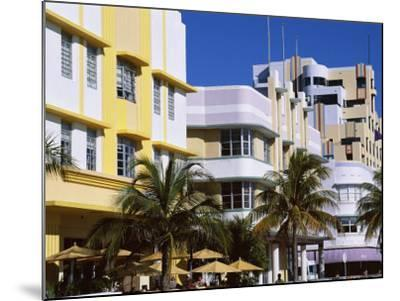 Art Deco District, Ocean Drive, Miami Beach, Florida, United States of America (Usa), North America-Amanda Hall-Mounted Photographic Print