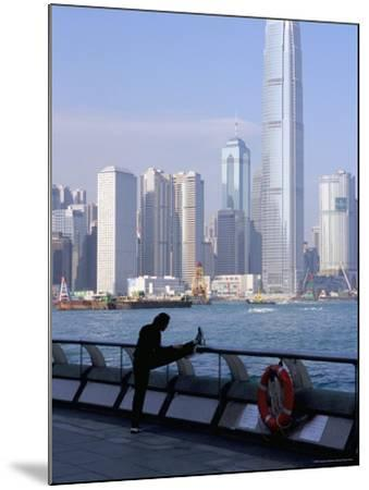 Morning Exercise, Victoria Harbour and Two Ifc Tower, Hong Kong, China-Amanda Hall-Mounted Photographic Print
