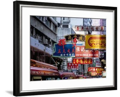 Causeway Bay, Hong Kong Island, Hong Kong, China-Amanda Hall-Framed Photographic Print