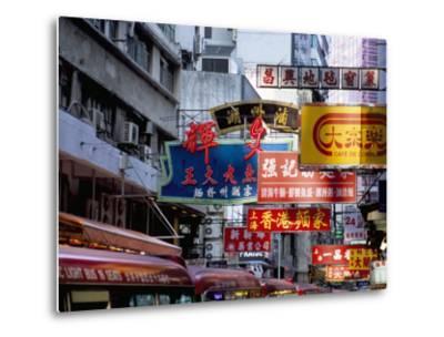 Causeway Bay, Hong Kong Island, Hong Kong, China-Amanda Hall-Metal Print