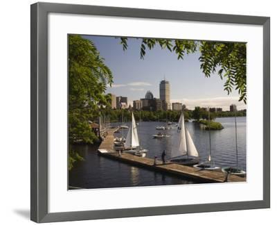 Boating on the Charles River, Boston, Massachusetts, New England, USA-Amanda Hall-Framed Photographic Print