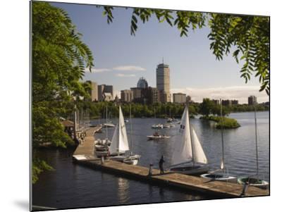 Boating on the Charles River, Boston, Massachusetts, New England, USA-Amanda Hall-Mounted Photographic Print