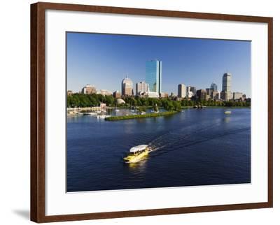 City Skyline Across the Charles River, Boston, Massachusetts, New England, USA-Amanda Hall-Framed Photographic Print