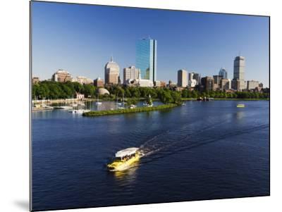 City Skyline Across the Charles River, Boston, Massachusetts, New England, USA-Amanda Hall-Mounted Photographic Print