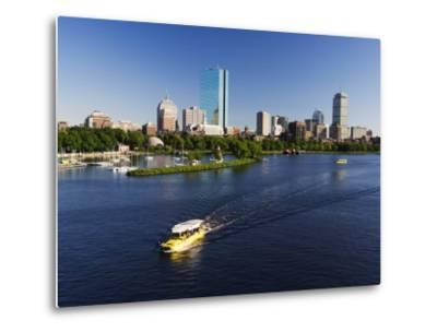 City Skyline Across the Charles River, Boston, Massachusetts, New England, USA-Amanda Hall-Metal Print
