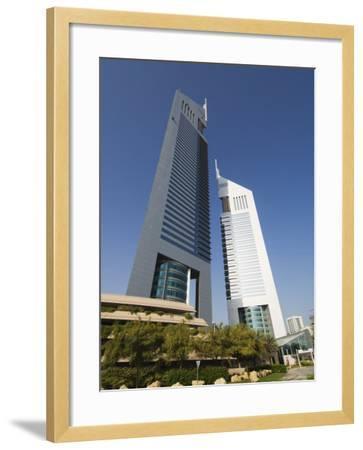 Emirates Towers, Sheikh Zayed Road, Dubai, United Arab Emirates, Middle East-Amanda Hall-Framed Photographic Print