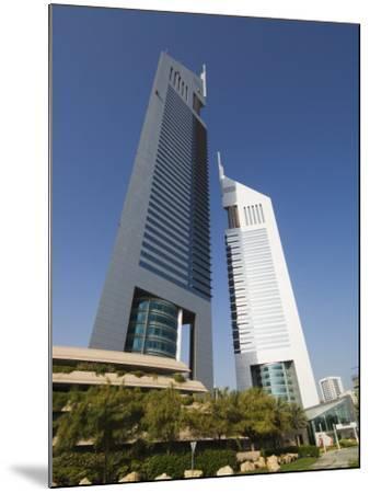 Emirates Towers, Sheikh Zayed Road, Dubai, United Arab Emirates, Middle East-Amanda Hall-Mounted Photographic Print