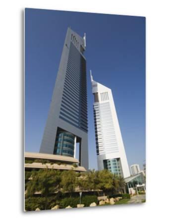 Emirates Towers, Sheikh Zayed Road, Dubai, United Arab Emirates, Middle East-Amanda Hall-Metal Print