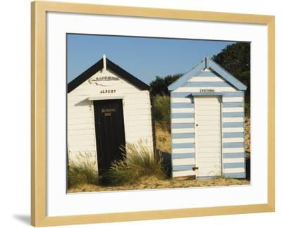 Old Beach Huts, Southwold, Suffolk, England, United Kingdom-Amanda Hall-Framed Photographic Print