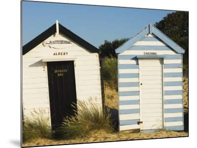 Old Beach Huts, Southwold, Suffolk, England, United Kingdom-Amanda Hall-Mounted Photographic Print