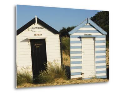 Old Beach Huts, Southwold, Suffolk, England, United Kingdom-Amanda Hall-Metal Print
