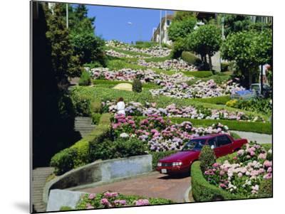 Driving Down Lombard Street, Russian Hill, California-Amanda Hall-Mounted Photographic Print