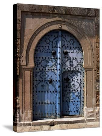 Doorway, Sidi Bou Said, Tunisia, North Africa, Africa-J Lightfoot-Stretched Canvas Print