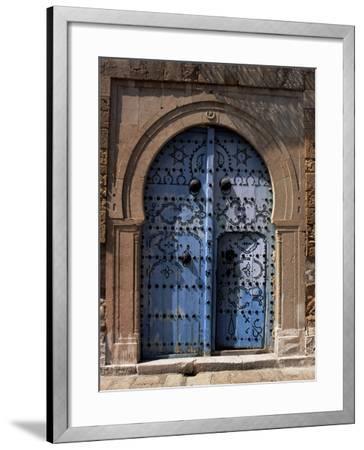 Doorway, Sidi Bou Said, Tunisia, North Africa, Africa-J Lightfoot-Framed Photographic Print