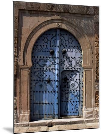 Doorway, Sidi Bou Said, Tunisia, North Africa, Africa-J Lightfoot-Mounted Photographic Print