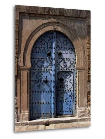 Doorway, Sidi Bou Said, Tunisia, North Africa, Africa-J Lightfoot-Metal Print