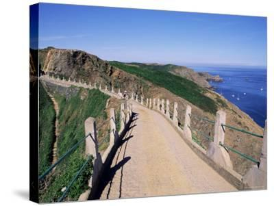 La Coupee and Dixcart Bay, Sark, Channel Islands, United Kingdom-J Lightfoot-Stretched Canvas Print