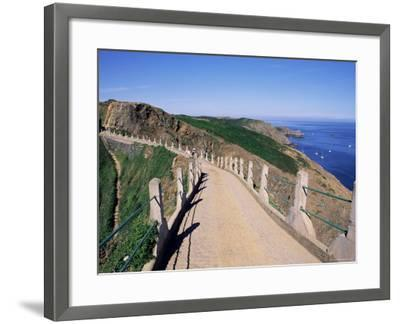 La Coupee and Dixcart Bay, Sark, Channel Islands, United Kingdom-J Lightfoot-Framed Photographic Print