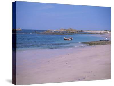 Cobo Bay, Guernsey, Channel Islands, United Kingdom-J Lightfoot-Stretched Canvas Print