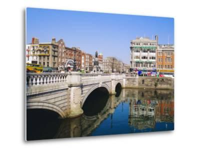 O'Connell Bridge, Dublin, Ireland/Eire-J Lightfoot-Metal Print