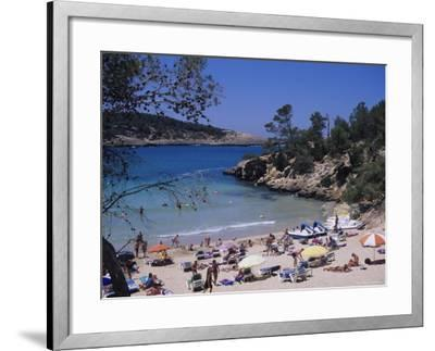 Crowded Beach at Portinatx, Ibiza, Baleares, (Spain)-J Lightfoot-Framed Photographic Print