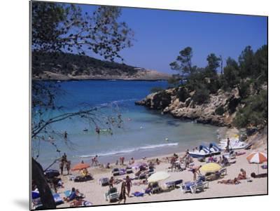 Crowded Beach at Portinatx, Ibiza, Baleares, (Spain)-J Lightfoot-Mounted Photographic Print