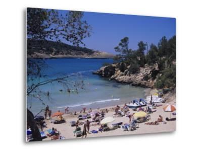 Crowded Beach at Portinatx, Ibiza, Baleares, (Spain)-J Lightfoot-Metal Print