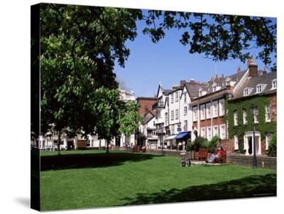 Cathedral Close, Exeter, Devon, England, United Kingdom-J Lightfoot-Stretched Canvas Print