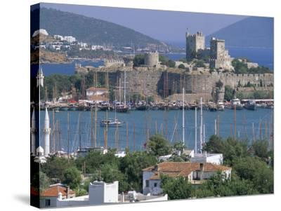 Bodrum and Bodrum Castle, Anatolia, Turkey-J Lightfoot-Stretched Canvas Print