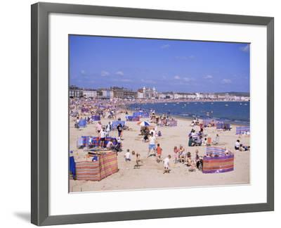 The Beach, Weymouth, Dorset, England, United Kingdom-J Lightfoot-Framed Photographic Print